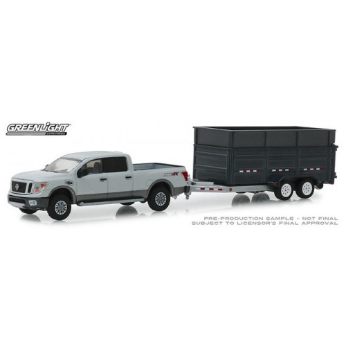 Greenlight Hitch and Tow Series 16 - 2018 Nissan Titan with Dump Trailer