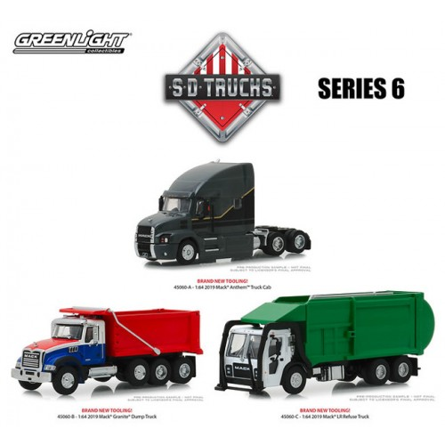 Greenlight S.D. Trucks Series 6 - Three Truck Set