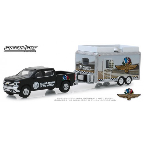 Greenlight Hobby Exclusive - 2019 Chevy Silverado with Indianapolis Motor Speedway Trailer