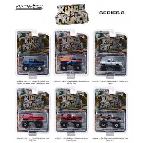 Greenlight Kings of Crunch Series 3 - Six Truck Set