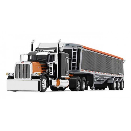 DCP Peterbilt 389 with Lode King Distinction Hopper Trailer