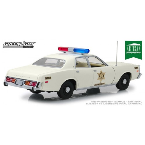 Greenlight Artisan Collection - 1977 Plymouth Fury Hazzard County Sheriff