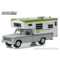 Greenlight Hobby Exclusive - 1966 Dodge D-100 with Slide-In Camper
