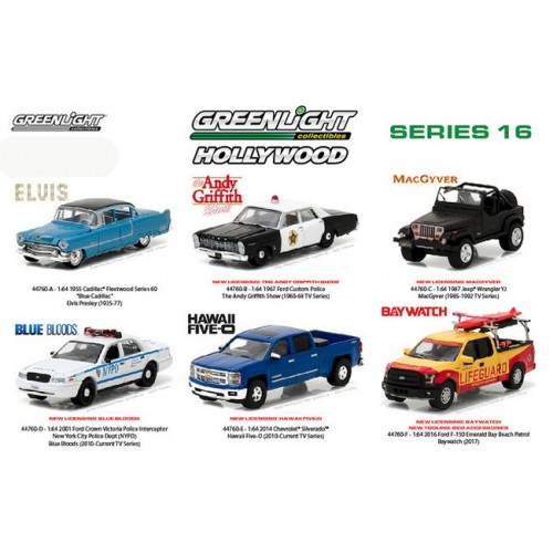 Hollywood Series 16 - Six Car Set