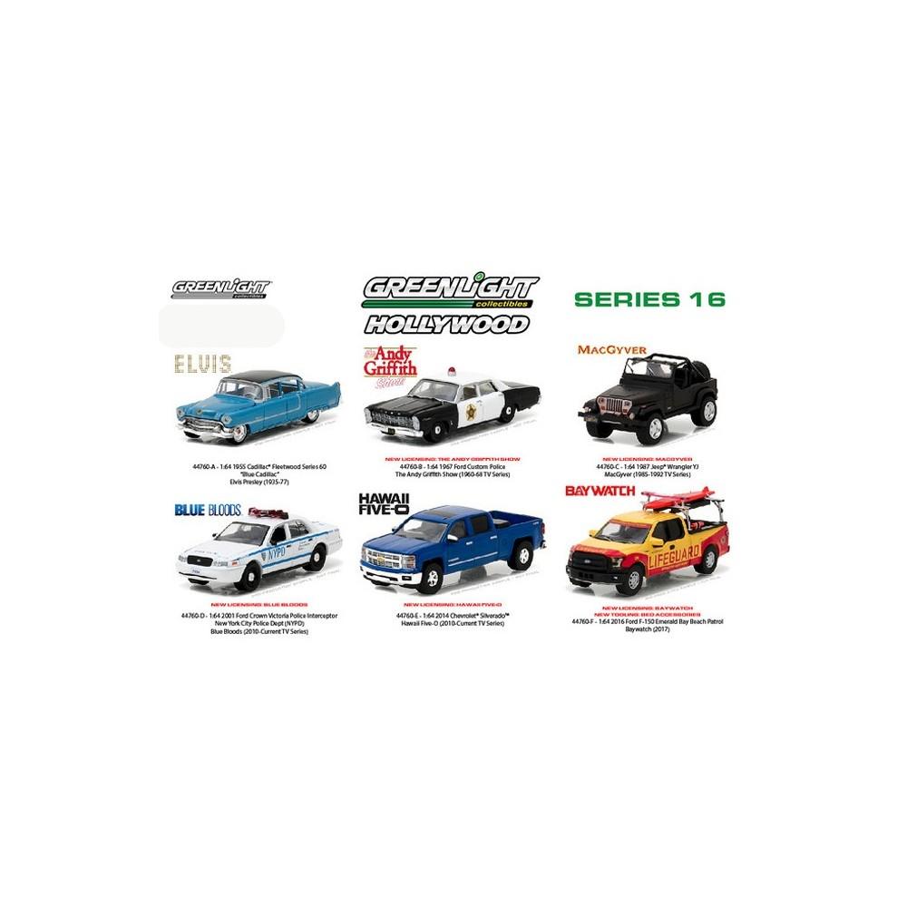 Hollywood Series 16 - Six Car Set