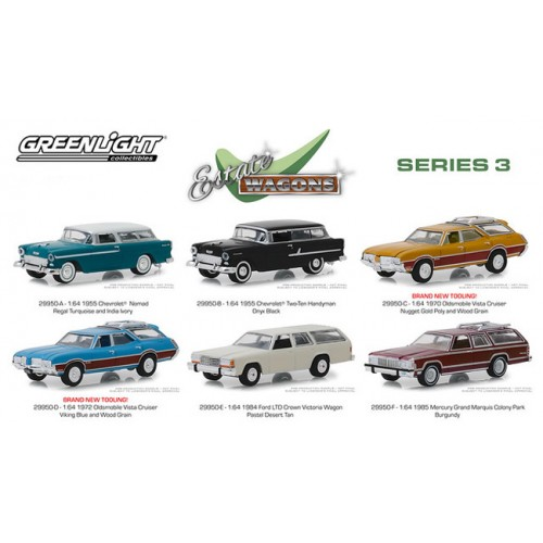 Greenlight Estate Wagons Series 3 - Six Car Set