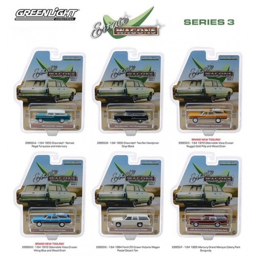 Greenlight Estate Wagons Series 3 - Six Car Set