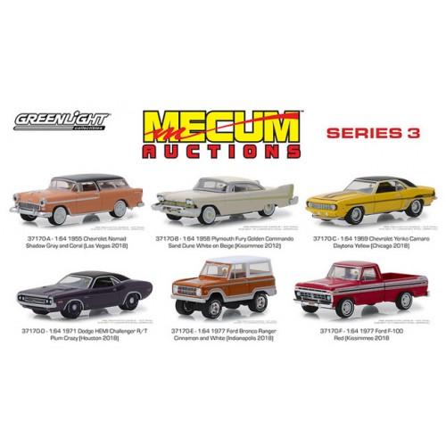 Greenlight Mecum Auctions Series 3 - Six Car Set