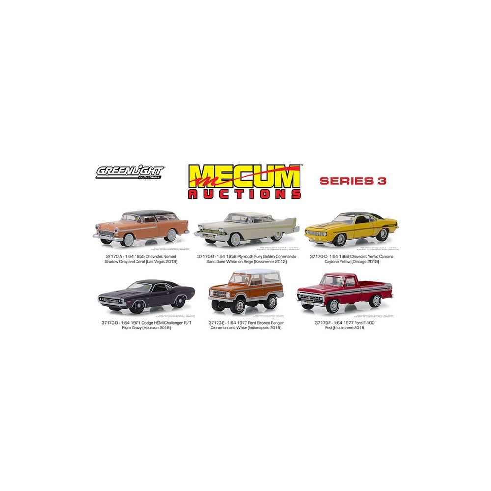 Greenlight Mecum Auctions Series 3 - Six Car Set