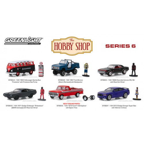 Greenlight The Hobby Shop Series 6 - Six Car Set