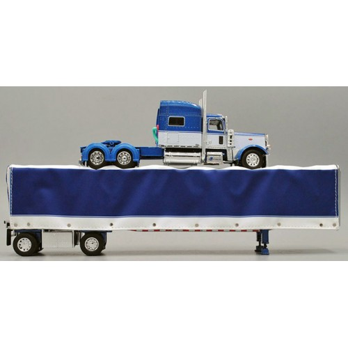 DCP Peterbilt 389 with Utility Roll Tarp Spread-Axle Trailer