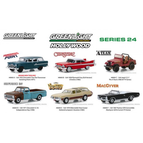Greenlight Hollywood Series 24 - Six Car Set