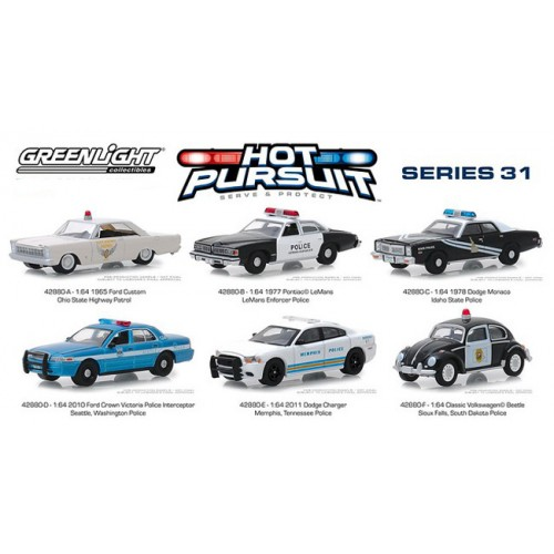 Greenlight Hot Pursuit Series 31 -  Six Car Set