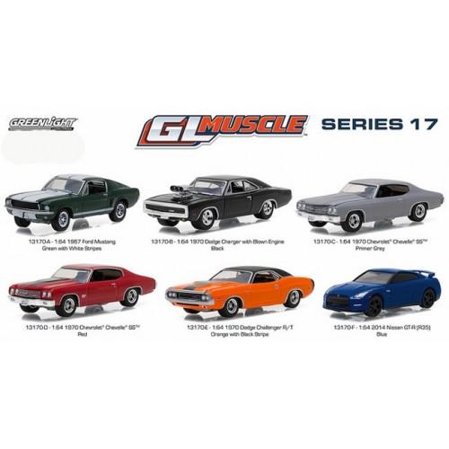 GL Muscle Series 17 - Six Car Set