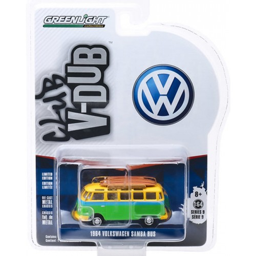 Greenlight Club Vee-Dub Series 9 - 1964 Volkswagen Samba Bus