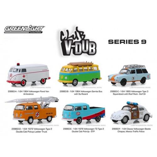 Greenlight Club Vee-Dub Series 9 - Six Car Set
