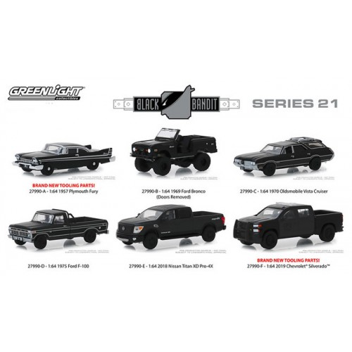 Greenlight Black Bandit Series 21 - Set