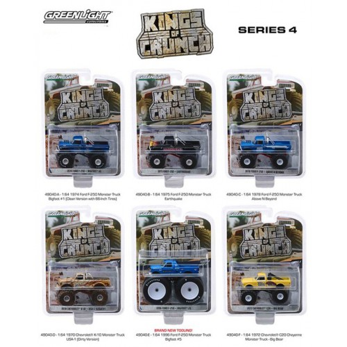 Greenlight Kings of Crunch Series 4 - Six Truck Set