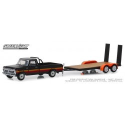 Greenlight Hitch and Tow Series 17 - 1977 Ford F-100 and Flatbed Trailer