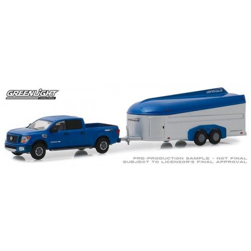Greenlight Hitch and Tow Series 17 - 2018 Nissan Titan with Aerovault Trailer