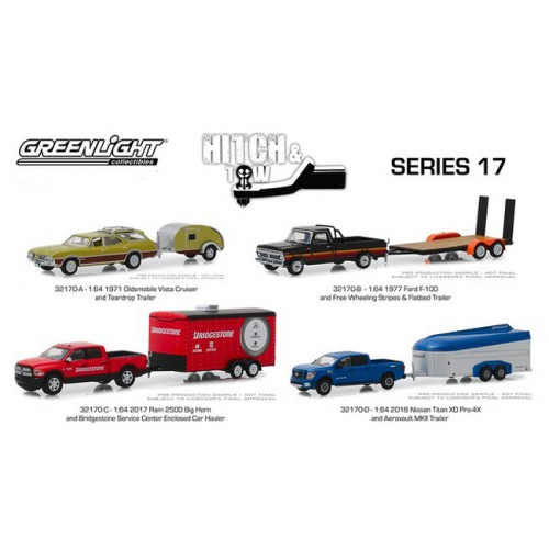 Greenlight Hitch and Tow Series 17 - SET