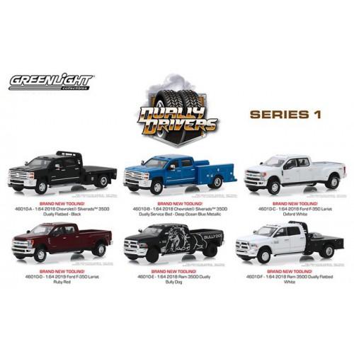 Greenlight Dually Drivers Series 1 - Six Truck Set