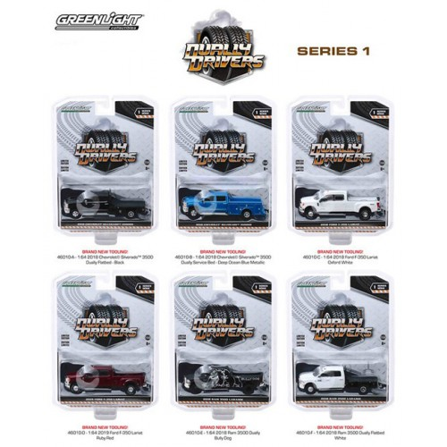 Greenlight Dually Drivers Series 1 - Six Truck Set