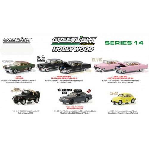 Hollywood Series 14 - Six Car Set