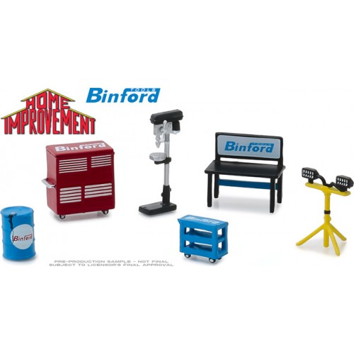 Greenlight Hobby Exclusive - Home Improvement Binford Tools Shop Tool Set