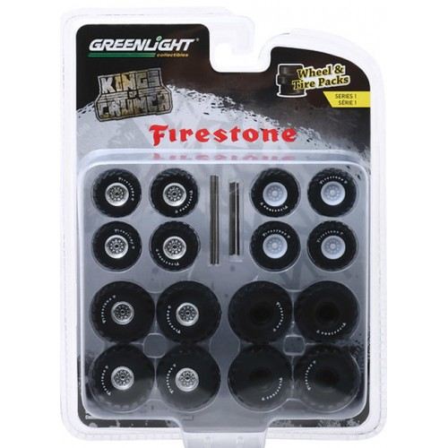 Greenlight Auto Body Shop Wheel and Tire Packs Series 1 - Kings of Crunch  Firestone