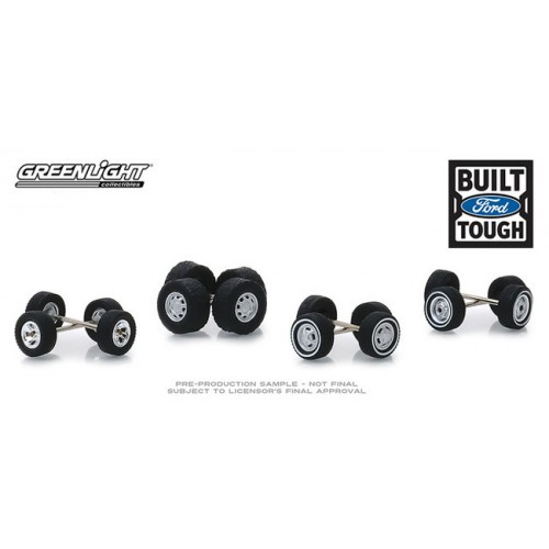Greenlight Auto Body Shop Wheel and Tire Packs Series 1 - Ford Trucks
