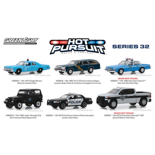 Greenlight Hot Pursuit Series 32 - Six Car Set