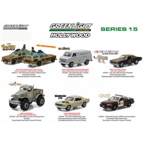 Hollywood Series 15 - Six Car Set