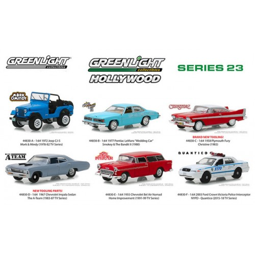 Greenlight Hollywood Series 23 - Six Car Set
