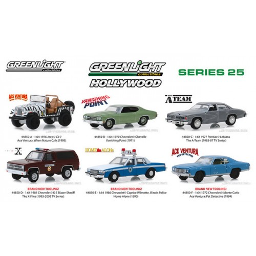 Greenlight Hollywood Series 25 - Six Car Set