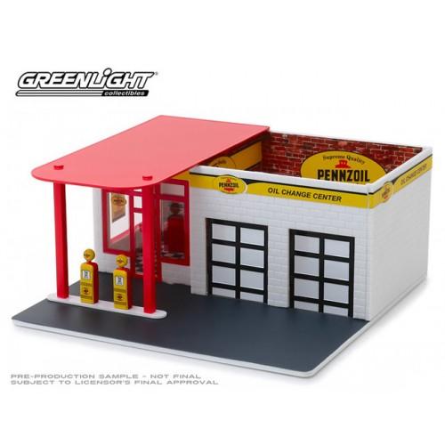 Greenlight Mechanics  Corner Series 5 - Vintage Gas Station Pennzoil