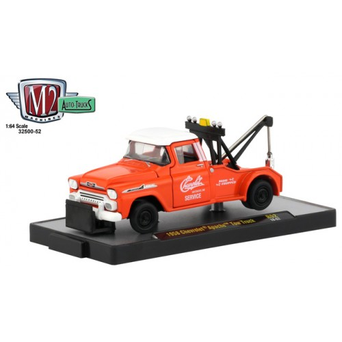 M2 Machines Auto-Trucks Release 52 - 1958 Chevy Apache Tow Truck