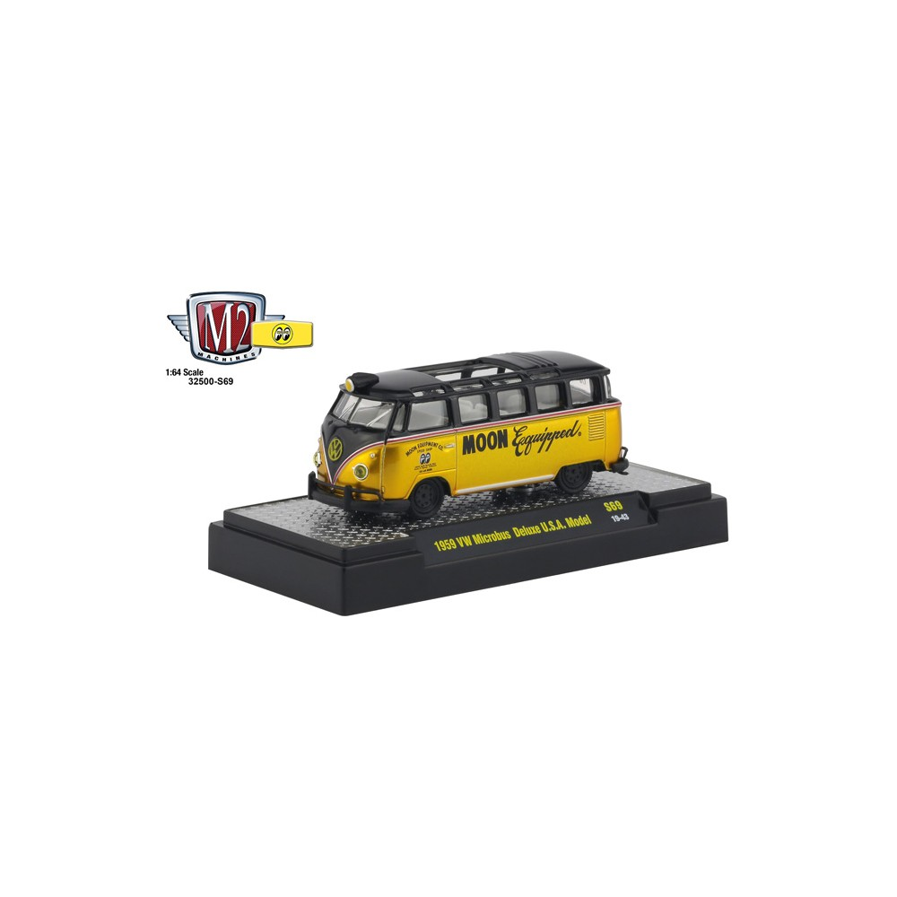 M2 Machines Mooneyes Liquid Gold - 1959 Volkswagen Microbus Deluxe