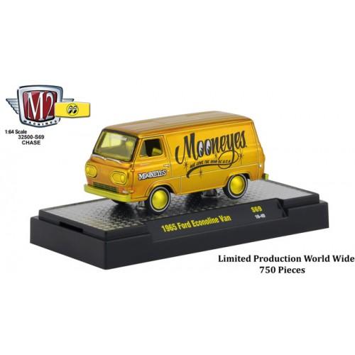 M2 Machines Mooneyes Liquid Gold - 1965 Ford Econoline Van Chase Version