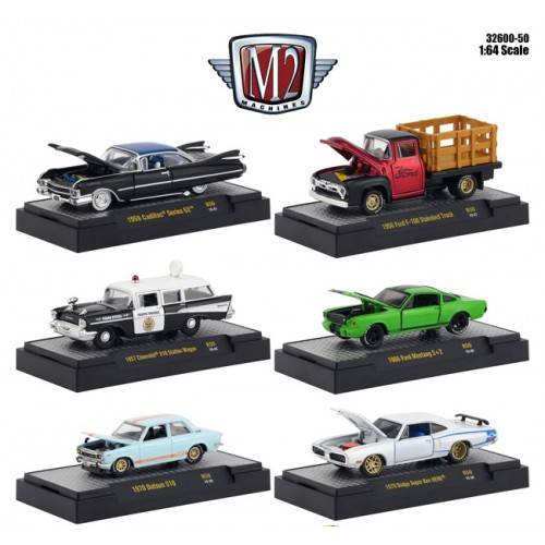 M2 Machines Auto-Meets Release 50 - Six Car Set
