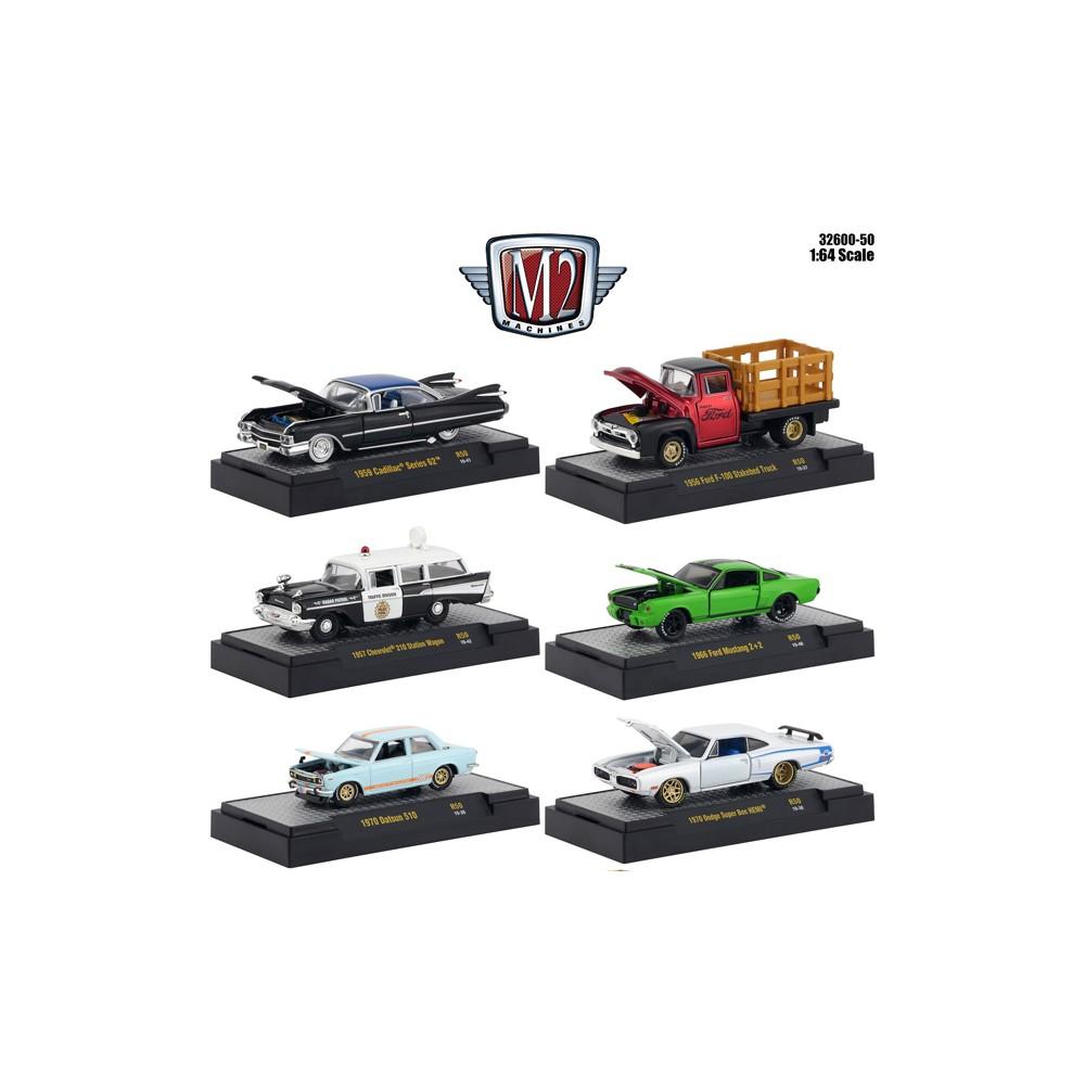 M2 Machines Auto-Meets Release 50 - Six Car Set