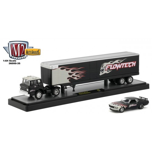 M2 Machines Auto-Haulers Release 35 - 1966 Ford C-950 and 1970 Ford Mustang Mach 1