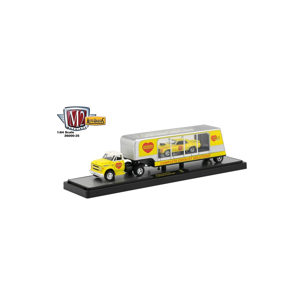 M2 Machines Auto-Haulers Release 35 - 1967 Chevy C60 Truck and 1969 Chevy Camaro SS/RS