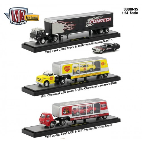 M2 Machines Auto-Haulers Release 35 - Three Truck Set