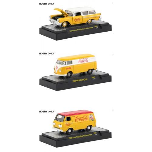 M2 Machines Coca-Cola Yellow Release 1 -  Three Car Set