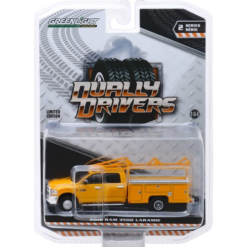 Greenlight Dually Drivers Series 2 - 2018 RAM 3500 Dually with Service Bed