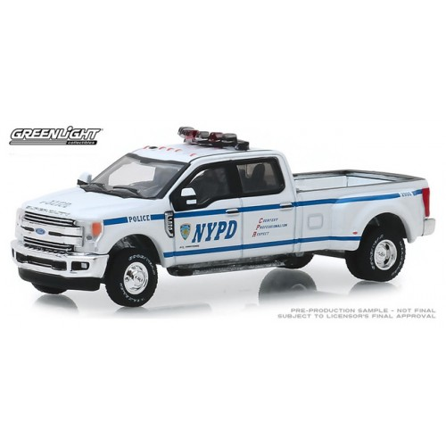 Greenlight Dually Drivers Series 2 - 2019 Ford F-350 Dually NYPD