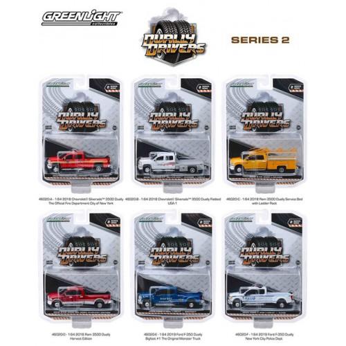 Greenlight Dually Drivers Series 2 - Six Truck Set