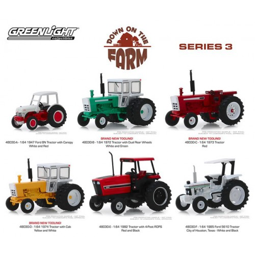 Greenlight Down On The Farm Series 3 - Six Tractor Set