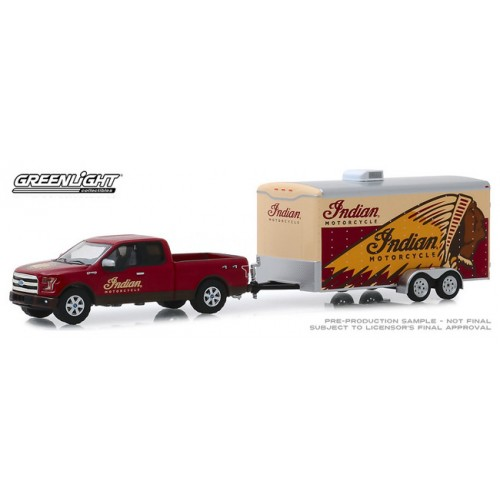 Greenlight Hitch and Tow Series 18 -  2017 Ford F-150 and Enclosed Car Hauler